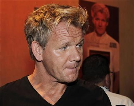 Gordon Ramsay, head chef, judge and executive producer of TV series 'Kitchen Nightmares', 'Hell's Kitchen' and 'Masterchef', attends the FOX Summer TCA Press Tour in Beverly Hills, California