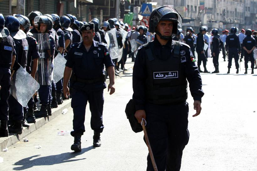 Jordan Police At A Demonstration