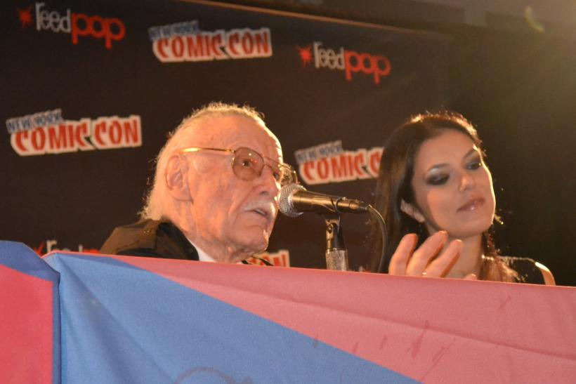 Stan Lee and Adrienne Curry