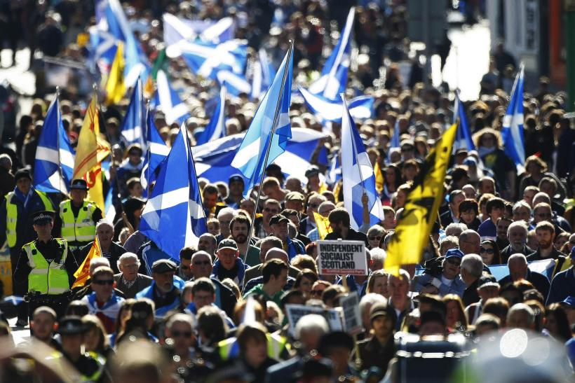 A pro-independence rally in Edinburgh, Scotland
