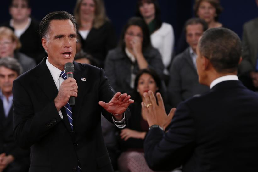 Romney And Obama Presidential Debate