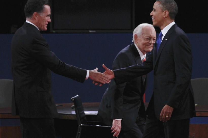 Romney, Obama, Schieffer At 3rd Debate