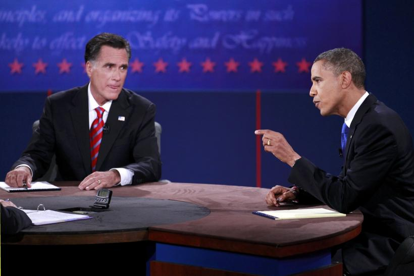 Obama And Romney At Third Presidential Debate