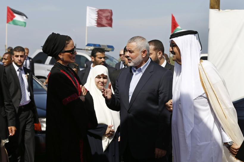 Emir of Qatar in Gaza