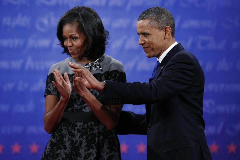 U.S. First Lady Michelle Obama And President Barack Obama