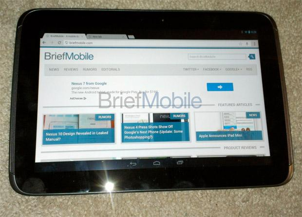 Google Nexus 10 Leaked Images Show Tablet Powered By Android 4.2