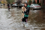 Sandy: woman with dog