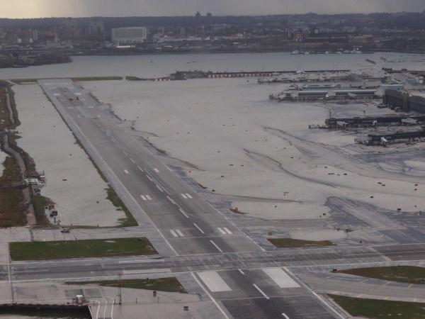 Flooded LaGuardia Airport In New York City