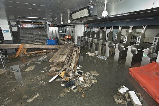 South Ferry Subway Station, New York City, After Superstorm Sandy