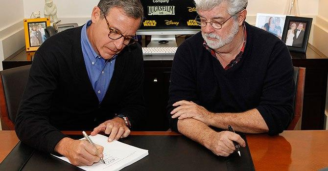 George Lucas Bob Iger Star Wars