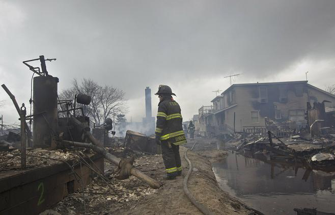 Sandy 1 Nov 2012 Breezy Point NY fireman 2
