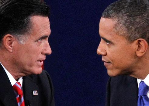 Obama Romney face to face