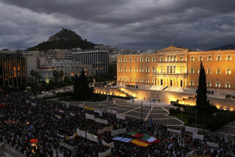 Protesters in Greece's Syntagma Square