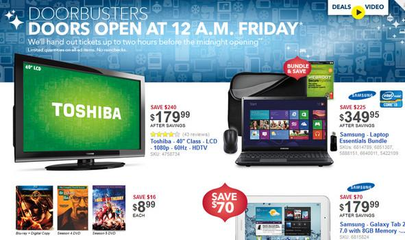 Best Buy Black Friday 2012
