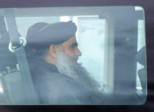Abu Qatada in Britain leaving courthouse
