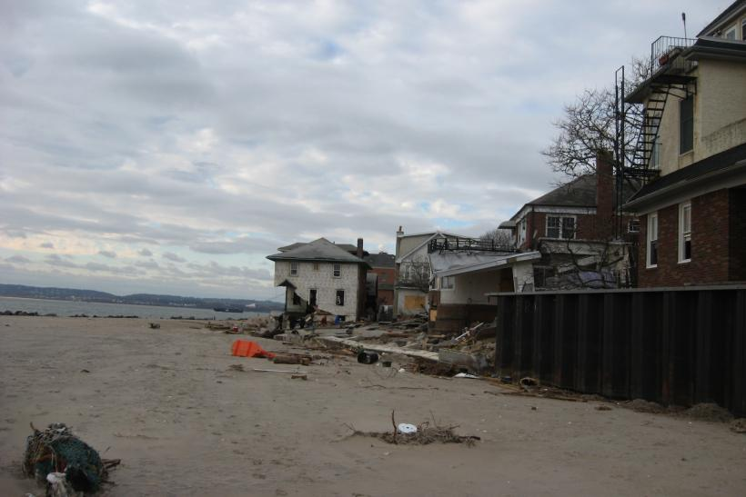 Sandy Beach Destruction In Sea Gate