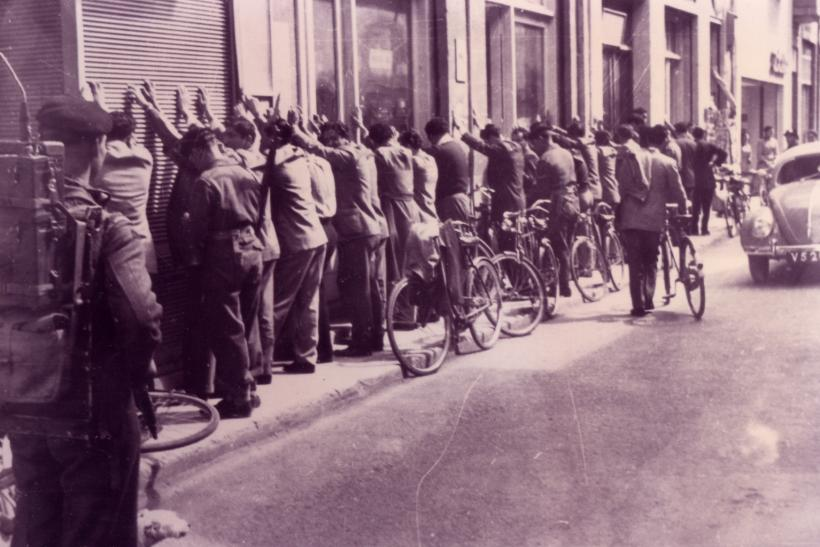Eoka guerillas under arrest.