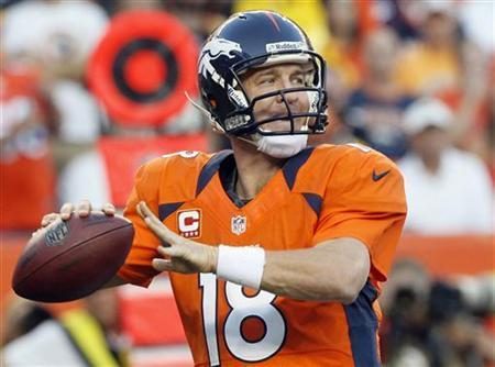 Peyton Manning and the Broncos favorites to win the championship.