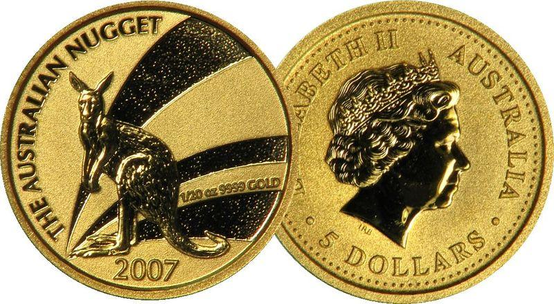 Australia_2007_Nugget_Kangaroo_1-20oz_Gold_Bullion