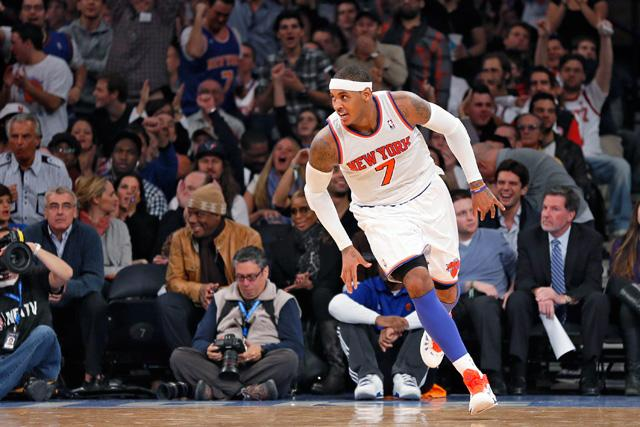 Carmelo Anthony is second in the NBA in scoring.