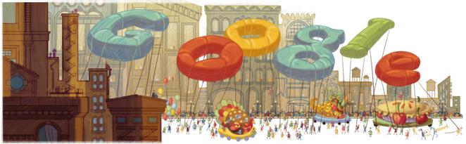 Macy's Thanksgiving Day Parade 2012 Google Doodle