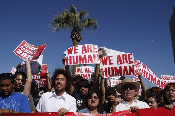 Mexican-American Immigrants Protest in Arizona