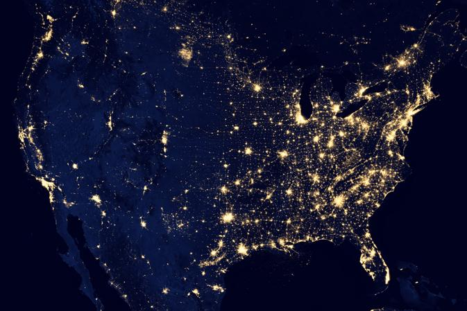 America by Night Light