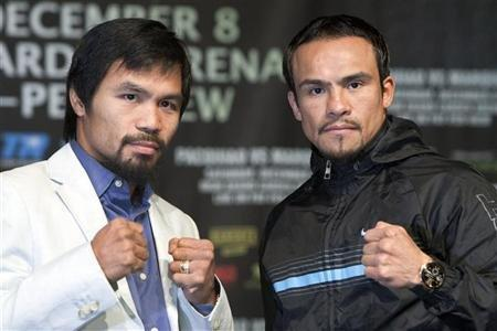 Manny Pacquiao (left) and Juan Manuel Marquez
