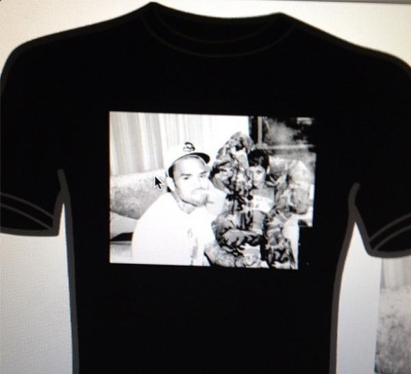 Chris Brown Creates New Shirt For His Clothing Line