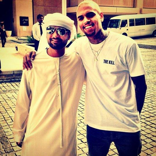 Chris Brown Promotes 'The Kill' In Dubai