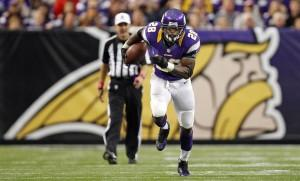 Vikings Peterson Rushes For Glory