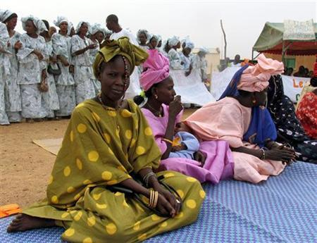 Women at anti-Female Genital Mutilation rally in Northern Senegal