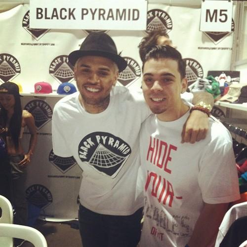 Chris Brown at Black Pyramid Launch