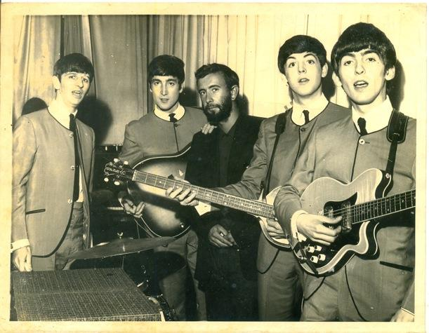Royston Ellis with the Beatles, Guernsey 1963