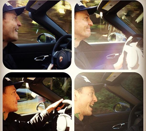 Deadmau5 in his new Porsche 911 Carrera S