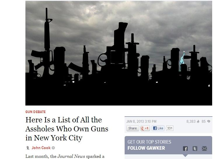 Gawker Publishes NYC Gun Permit Database
