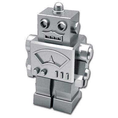 Monopolgy game board piece: Retro robot