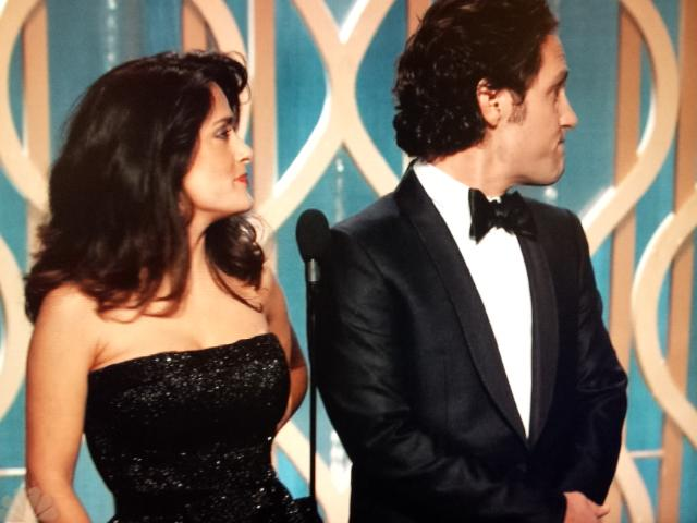 Paul Rudd and Salma Hayek-Golden Globes-Jan. 13, 2013