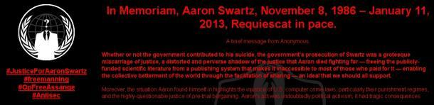 Anonymous Hacks MIT Website After Aaron Swartz's Suicide