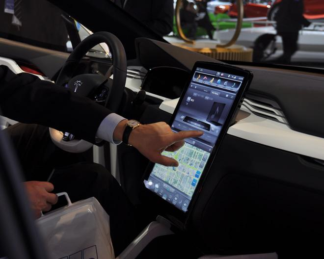 Tesla's Touchscreen Interface