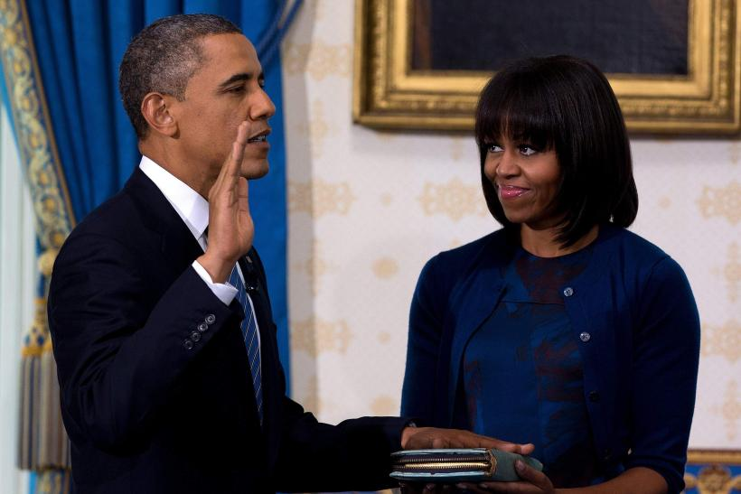 U.S. President Barack Obama, First Lady Michelle Obama-Inauguration Day-Jan. 20, 2013
