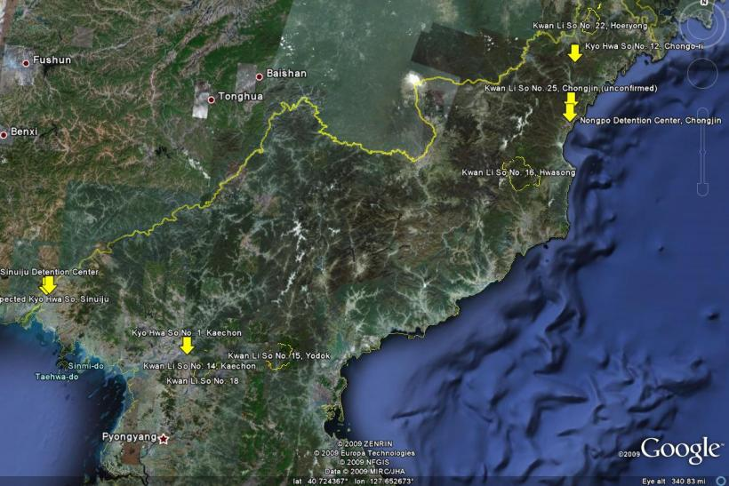 Map Of North Korean Labor Camps