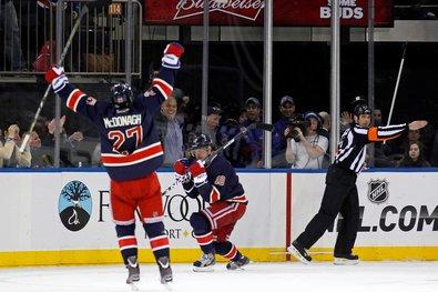 Gaborik Hat-Trick Spurs Rangers To First Win