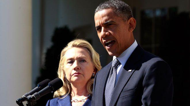 Barack Obama and Hillary Clinton
