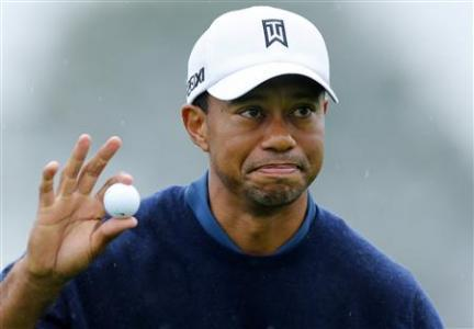 Tiger Takes Charge At Rainy Torrey Pines