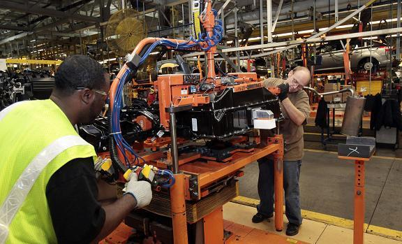 Manufacturing At A Ford Plant