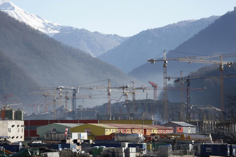 Construction site in Sochi, Russia
