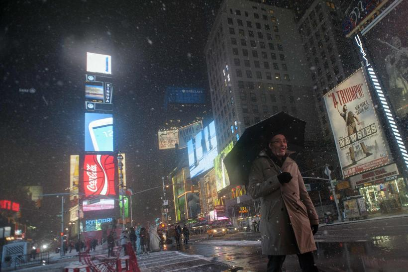 New York-Times Square-Blizzard-Feb. 8, 2013