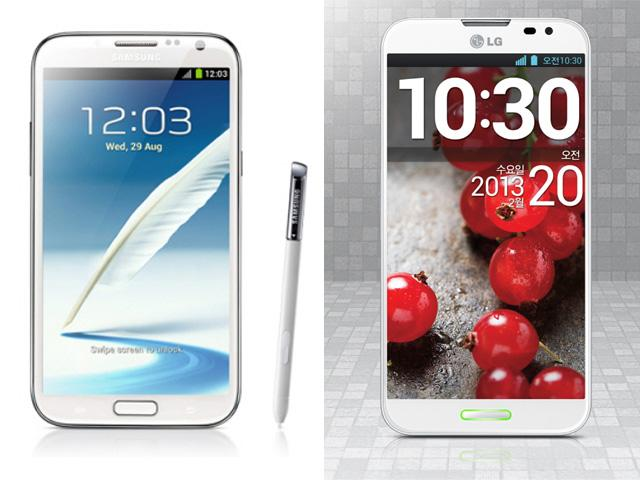 Samsung Galaxy Note 2 Vs. LG Optimus G Pro