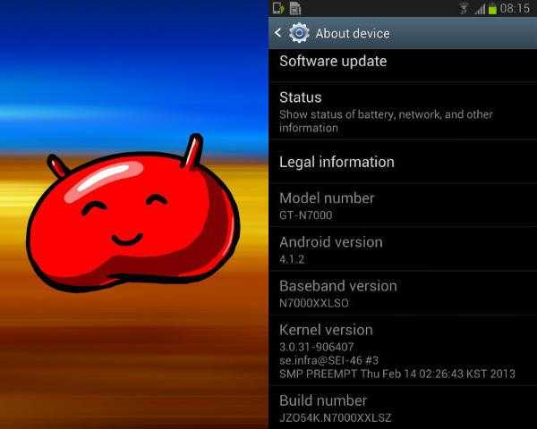 Root Samsung Galaxy Note GT-N7000 On Android 4.1.2 Jelly Bean